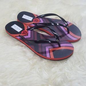 NWOB Kate Spade Manette Striped Flip Flop Size 10